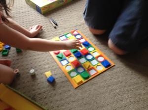 A shape board game