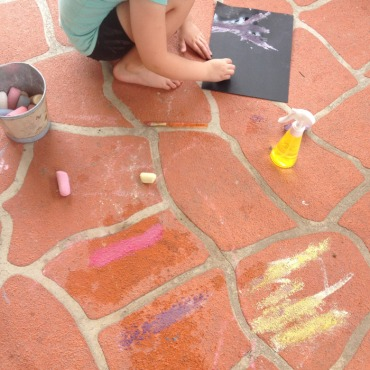 chalk and water