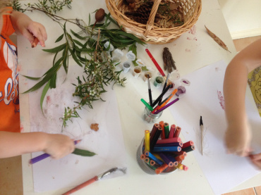 pencils and glue