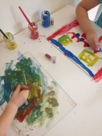 perspex painting
