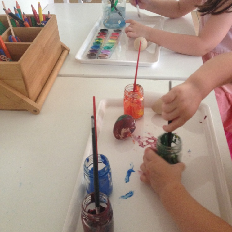 egg painting together