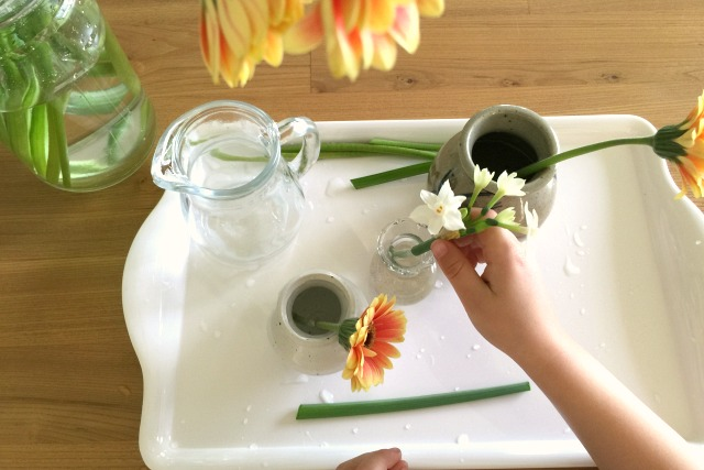 How We Montessori Flower Arranging