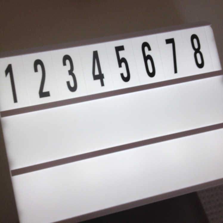 Light box numbers