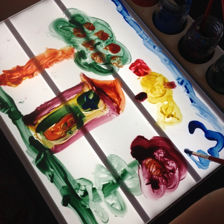 light box paint on perspex