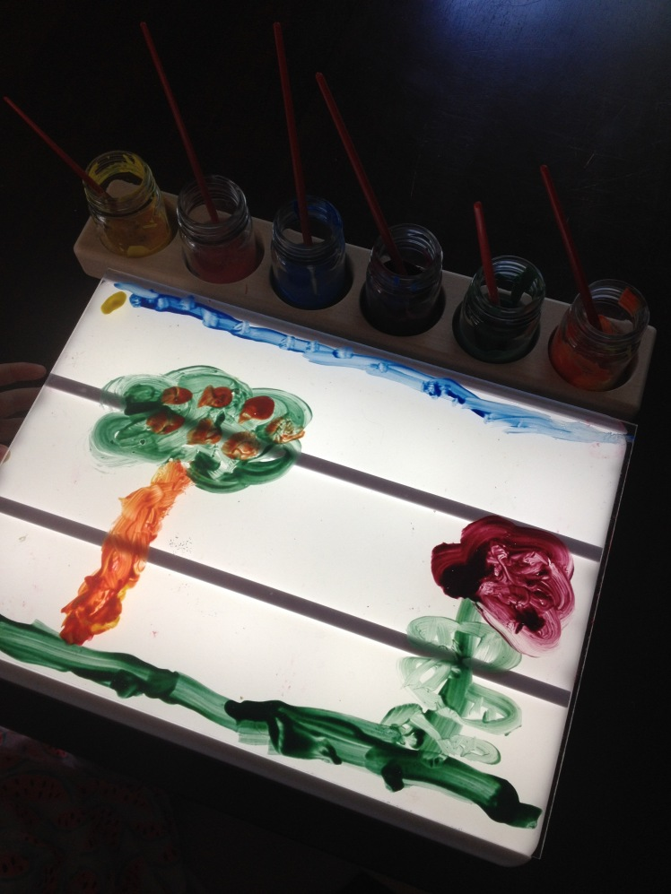 light box painting