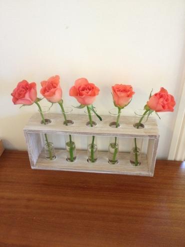 peach flower display