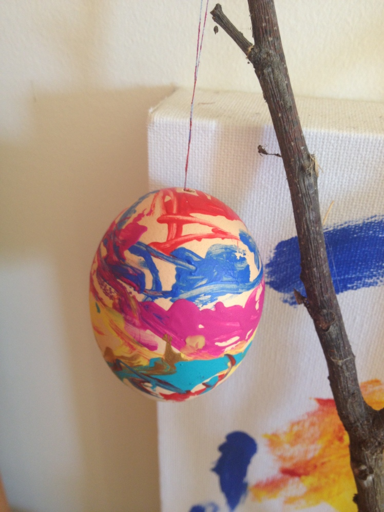Real egg painting
