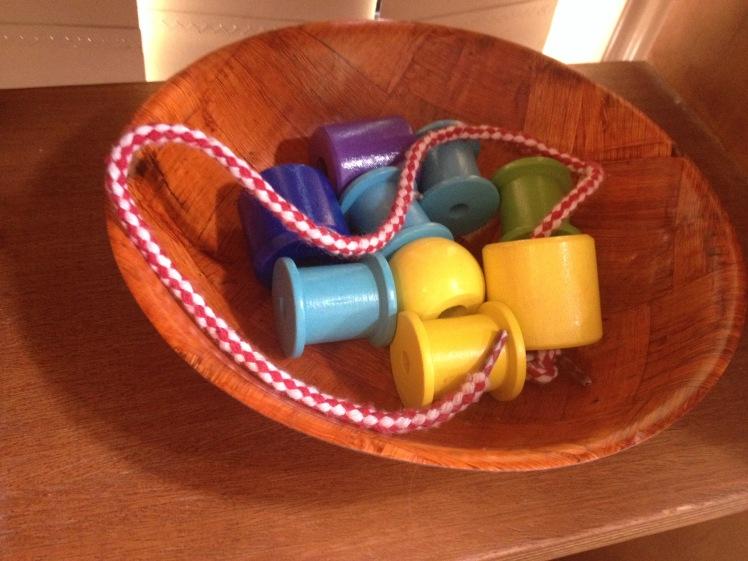 Threading large beads