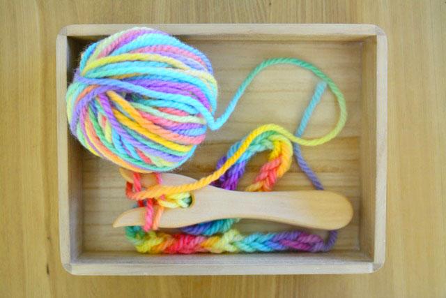 How We MOntessori knitting fork