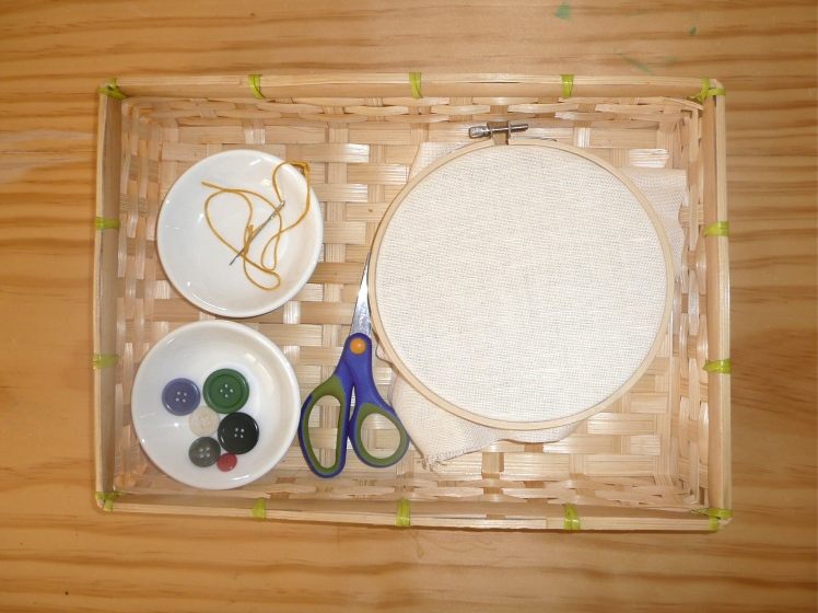 How We Montessori Sewing Tray