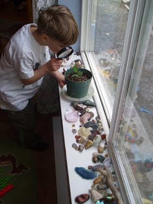 Montessori Child at Home Nature windowsill