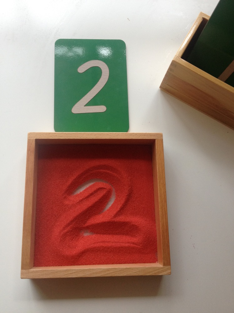 Sand tray numbers