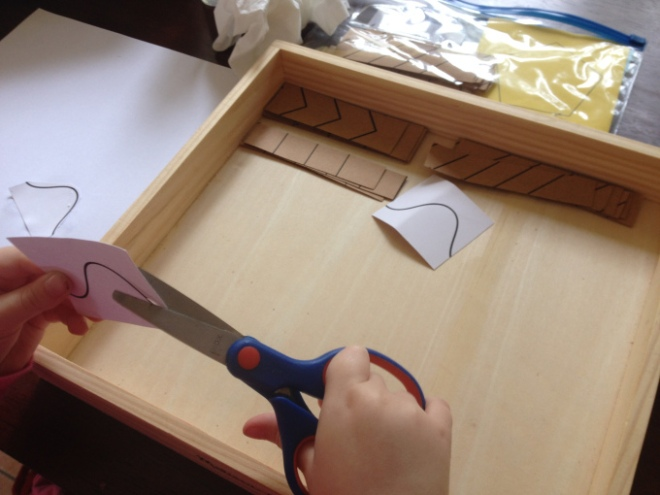 Scissor Cutting strips