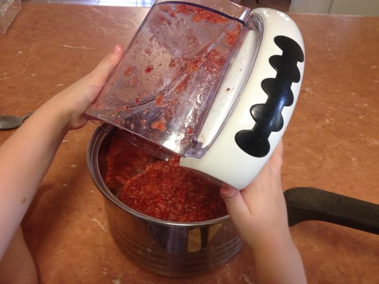 jam into pot