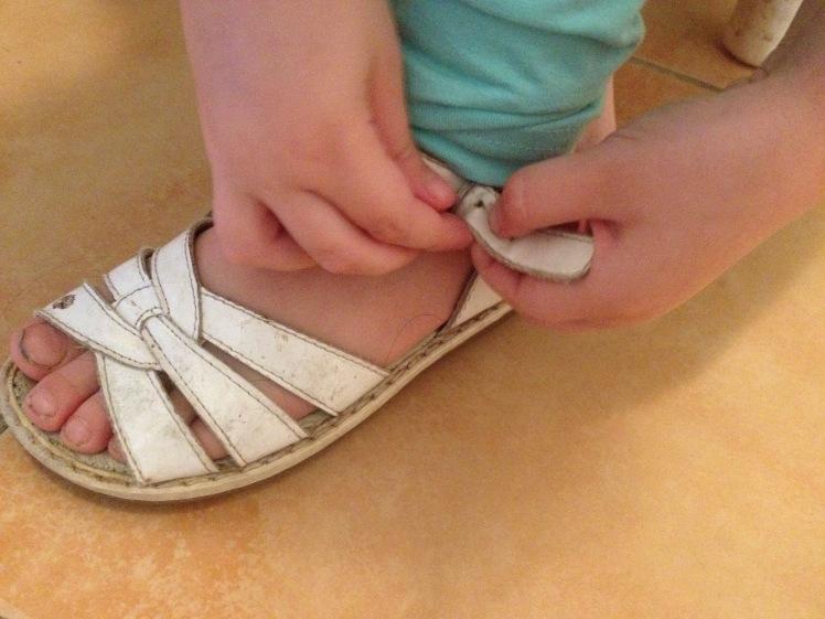 shoe buckle practice