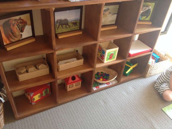 Toddler Montessori shelf