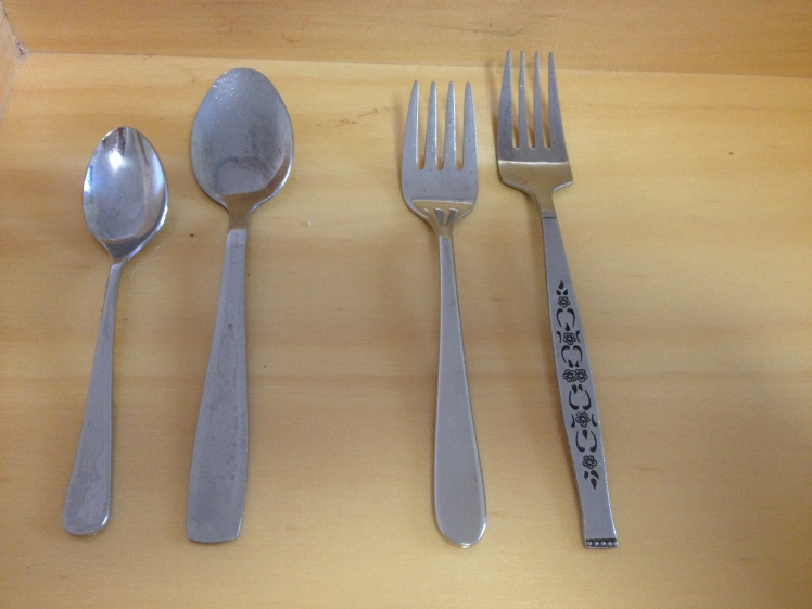 first spoon and fork comparision
