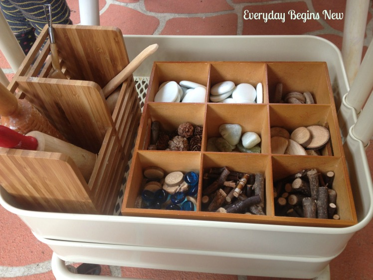 loose parts and clay materials