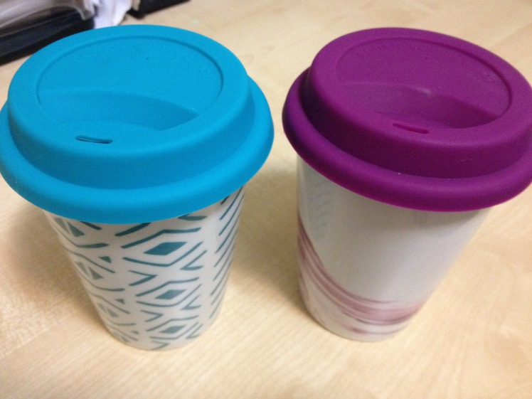 ceramic and silicon reusable cup