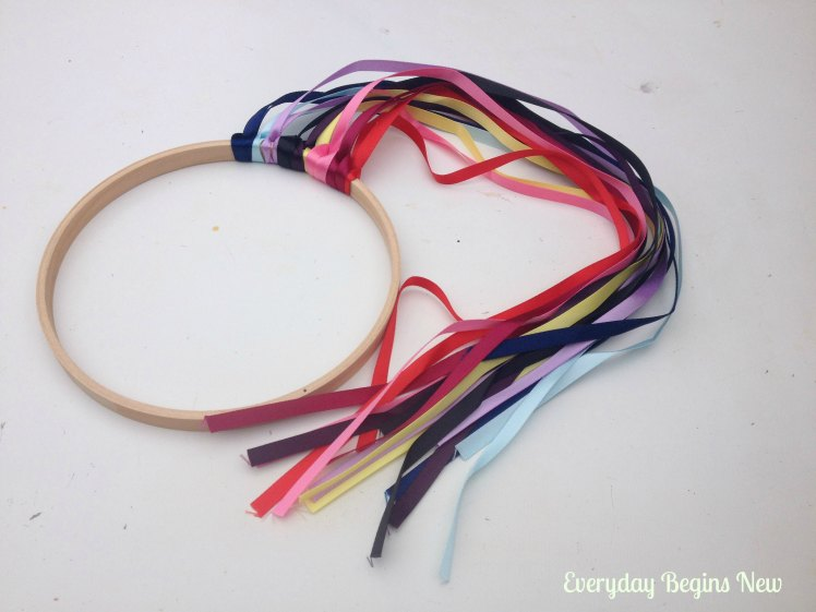 embroidery hoop ribbon wand