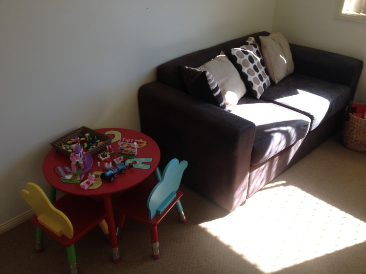 play room leggo table and reading couch