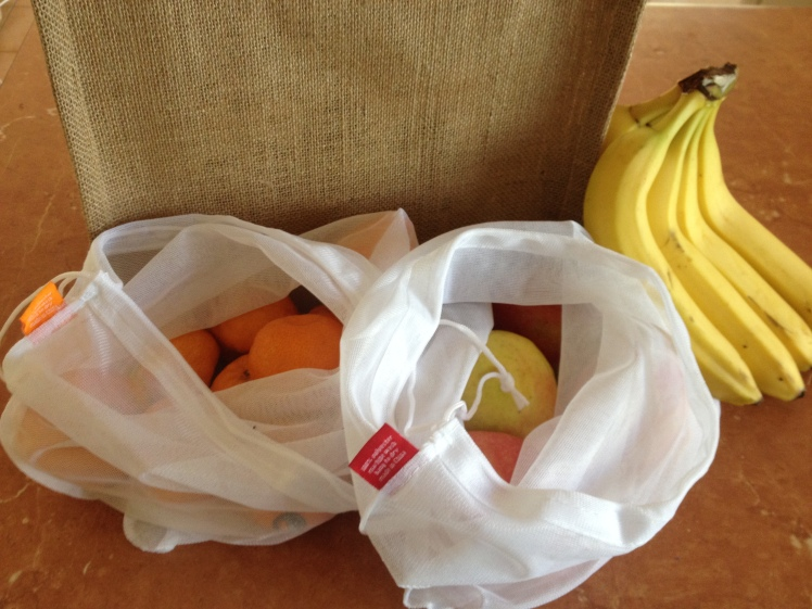 reusable produce bags and grcocery tote