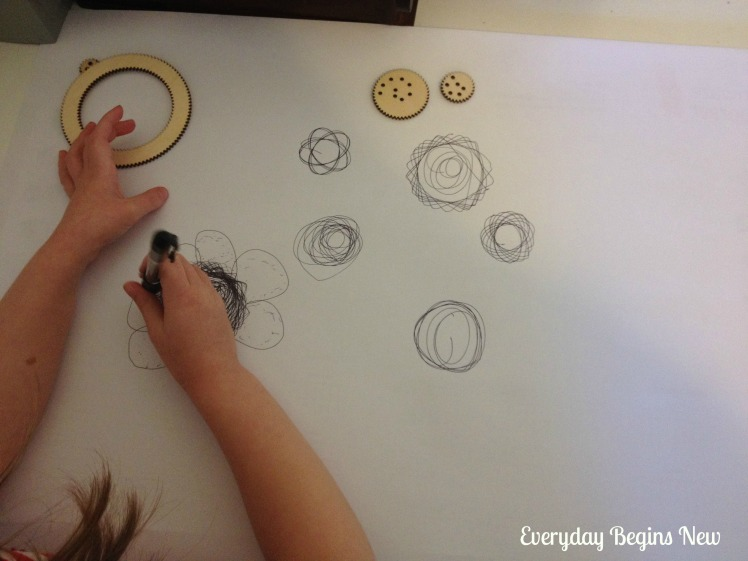 spirograph at 4 years wooden set