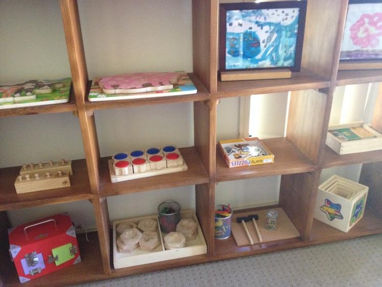 toddler shelf at 2 years