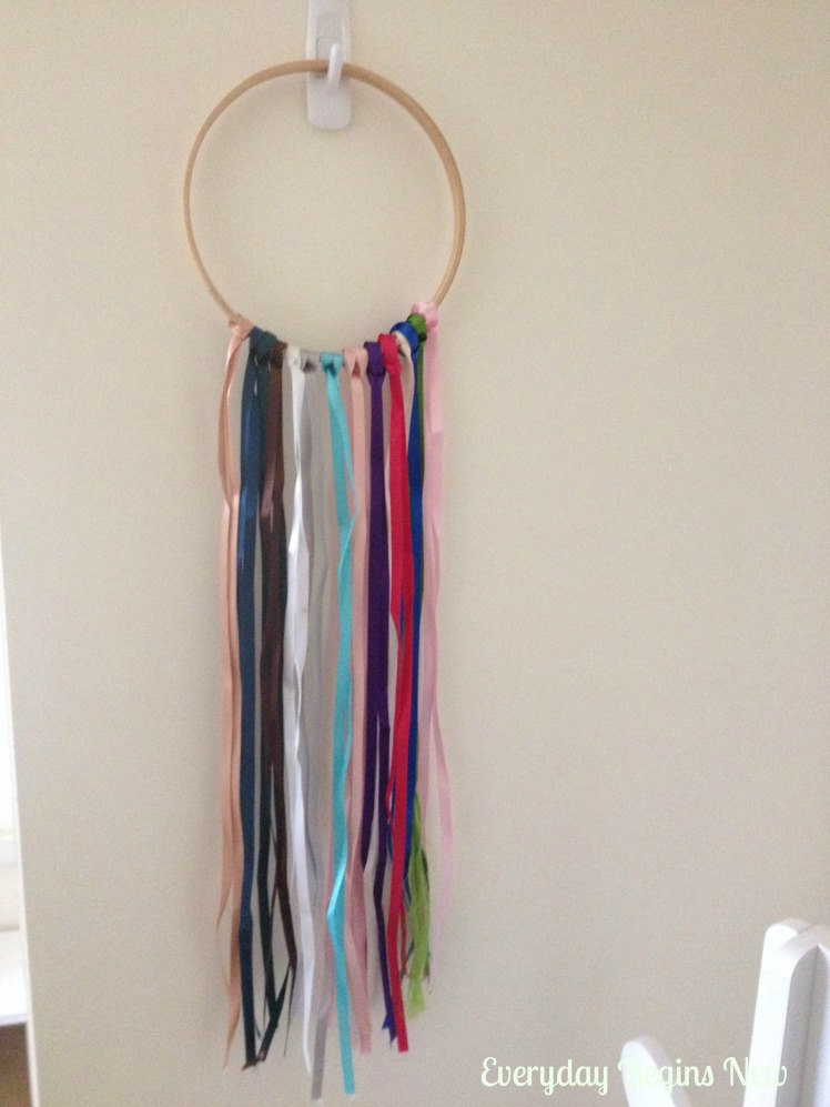 wall art ribbon wand