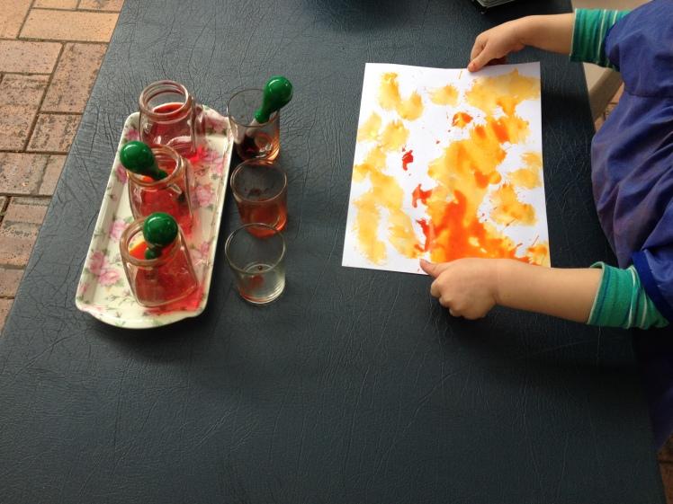 liquid watercolour painting