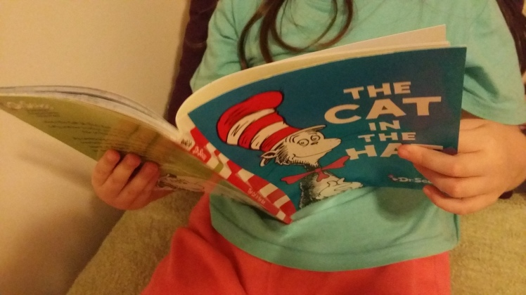 my eldest reading to herself