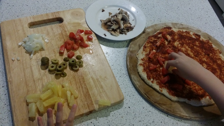 pizza-making
