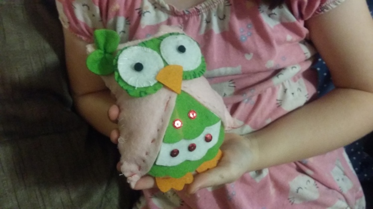 finished owl plushie