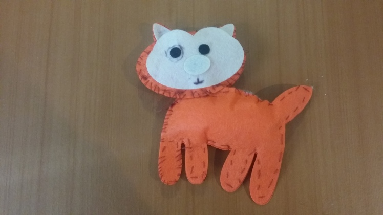 5 year olds sewing project CAT