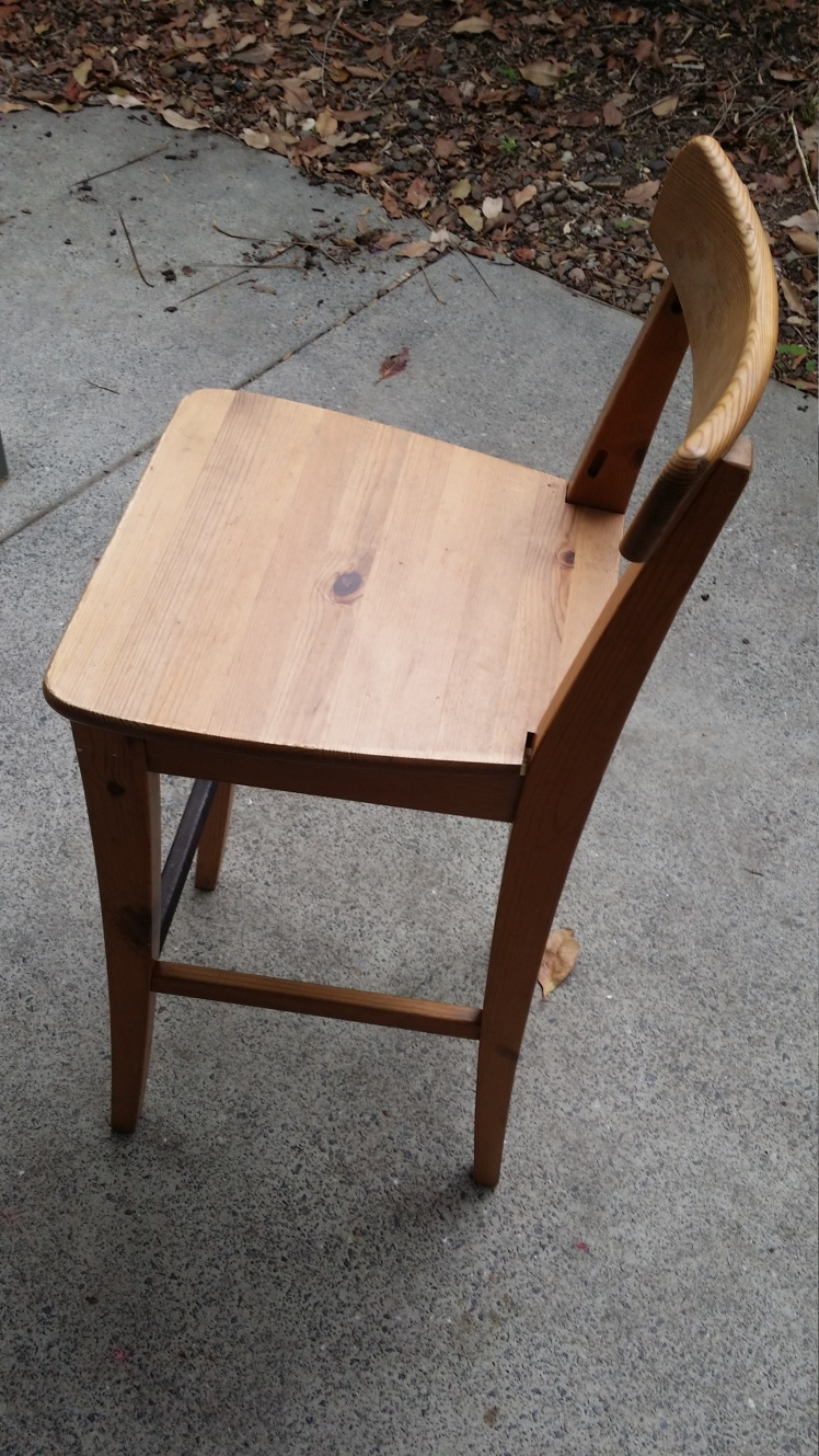 second hand wooden stool for child