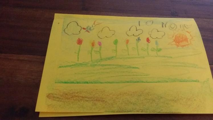 Child made birthday card