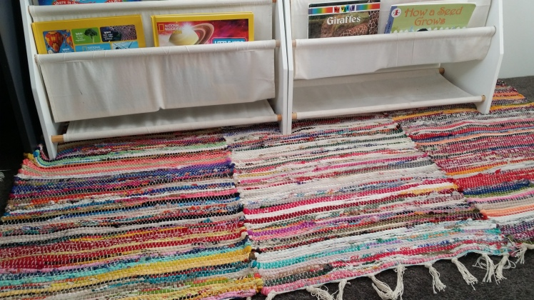 colourful reading rug