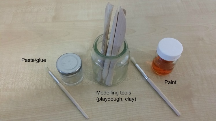 art- paste, modelling tools and painting storage.jpg
