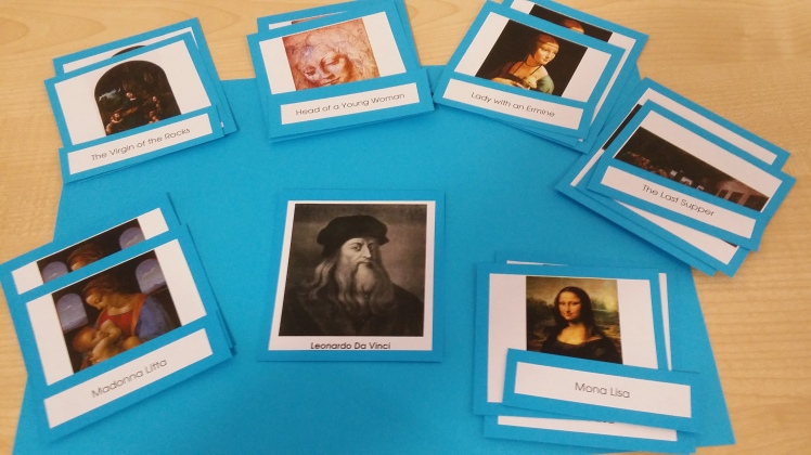 Montessori Art Cards- Leonardo D'Vinci