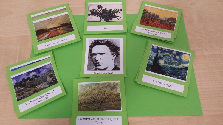 Montessori Art Cards- Vincent van Gogh