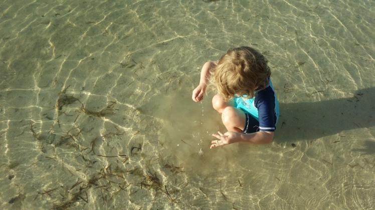 beautiful clear water in Fiji