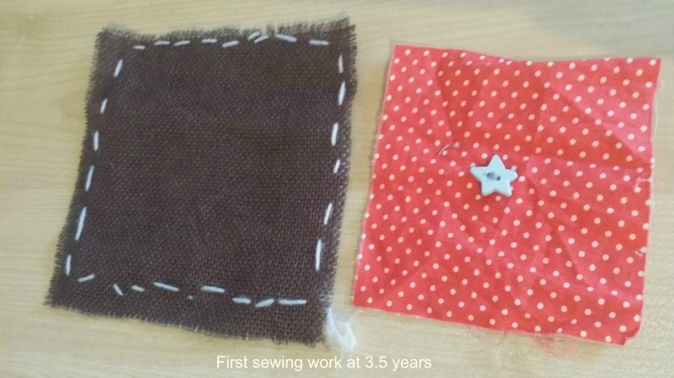 First sewing- sewing on material scraps.jpg