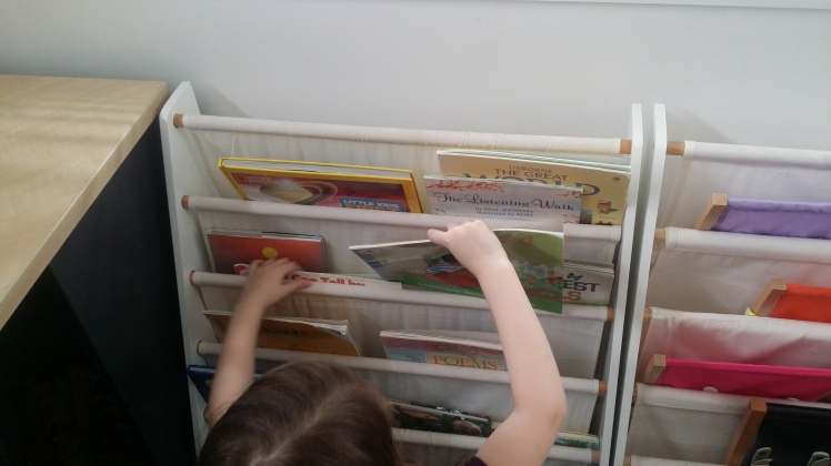 children rotating books