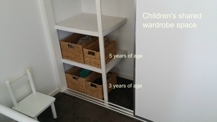 Children's Montessori style wardrobe