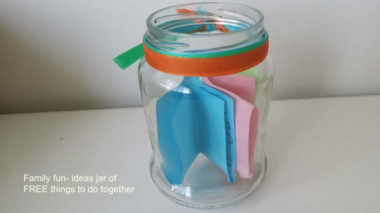 Family Time Making An Ideas Jar Of Free Things To Do Together Every Day Begins New