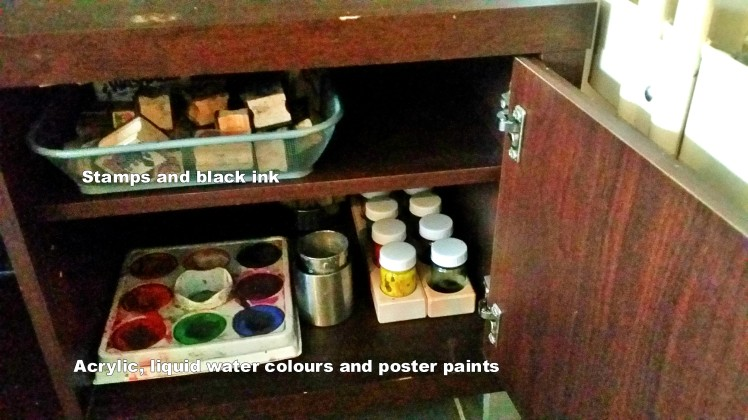 storage of art supplies