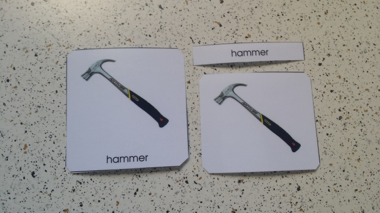 3-part hand tools cards