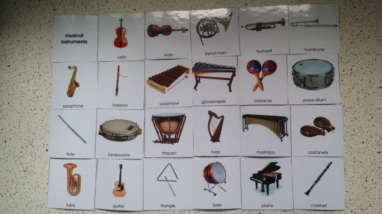 Musical Instrument 3-Part Cards