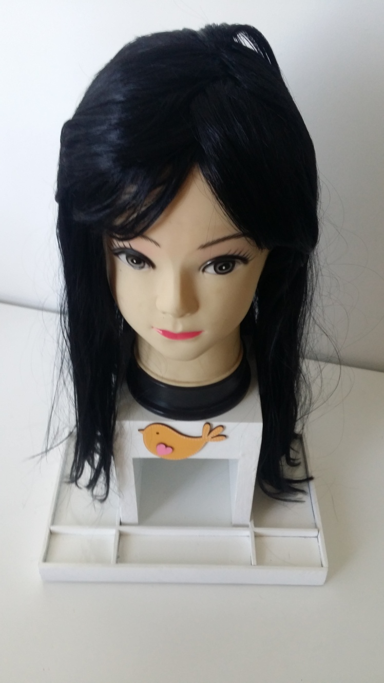hair dressing doll brown wig