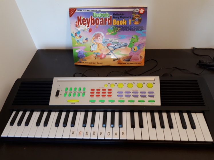 Learning to play the keyboard at 5.5 years